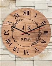 Personalised Initials Clock