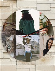 Personalised 6 Photo Collage Clock