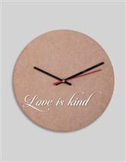 Personalised Love Is Clock