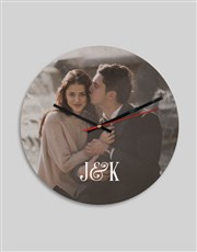 Personalised Photo And Initials Clock