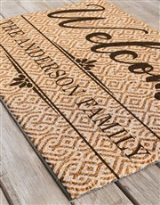 Personalised Welcome Home Family Doormat
