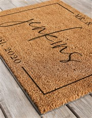 Personalised Mr And Mrs Est Doormat