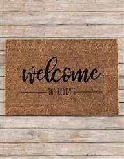 Personalised Welcome Surname Doormat