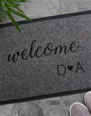 Personalised Welcome Initials Doormat