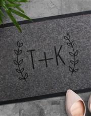 Personalised Fancy Initials Doormat