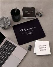 Personalised Signature Mousepad And Stationery Set