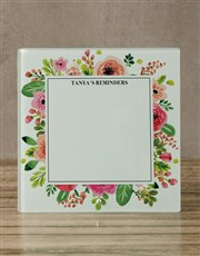 Floral Glass Reminder Whiteboard