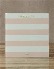 Striped Pink Glass Reminder Whiteboard