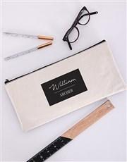 Personalised Tasteful Pencil Bag
