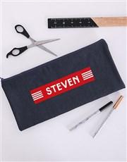 Personalised Modern Lines Pencil Bag