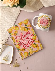 Personalised Best Mom Ever Notebook