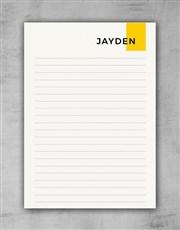 Personalised Modern Yellow Notebook