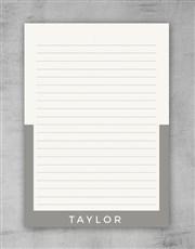 Personalised Modern Black Notebook