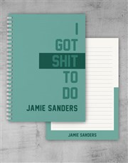 Personalised Things To Do Notebook