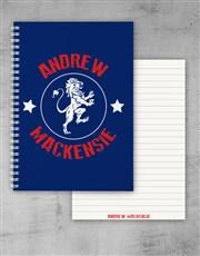 Personalised Lion Emblem Notebook