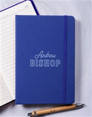 Personalised Modern Name Hardcover Journal