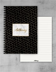 Personalised Gold Sophistication Notebook