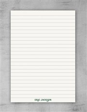 Personalised Green Deco Notebook