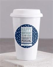 Personalised Favourite Person Ceramic Travel Mug