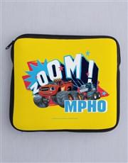 Personalised Zoom Wheels Kids Tablet Cover