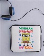Personalised SpondgeBob Kids Tablet Cover