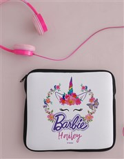 Personalised Barbie Unicorn Kids Tablet Cover