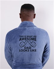 Personalised Awesome Dad Blue Gown