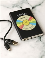 Personalised Positivity Black Powerbank