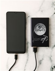Personalised Astronaut Black Powerbank
