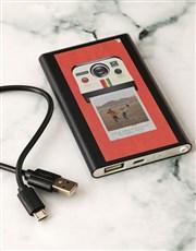 Personalised Polaroid Black Powerbank