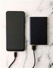 Personalised Two Photo Black Powerbank