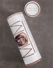 Personalised Mom Fruit and Nuts Tube