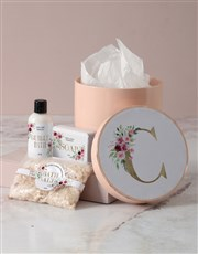 Personalised Floral Initial Pamper Hatbox