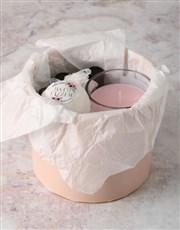 Personalised Floral Initial Pamper Hatbox