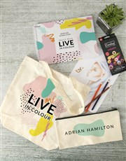 Personalised Live In Colour Sketch Book