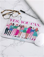 Personalised Yes You Can Mouse Pad