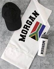Personalised RSA Flag Gym Towel Set