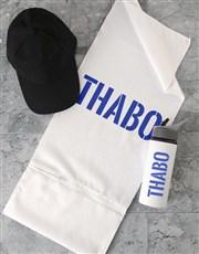 Personalised Stencil Gym Towel Set