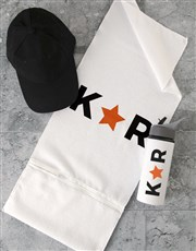 Personalised Star Initial Gym Towel Set