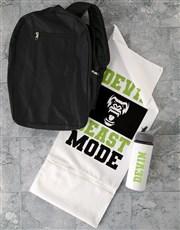 Personalised Beast Mode Gym Towel Set