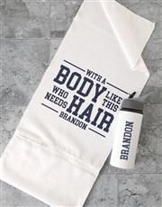 Personalised Body Like This Gym Towel Set