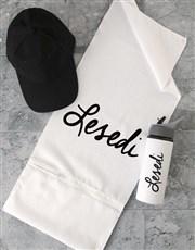 Personalised Signature Gym Towel Set
