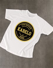 Personalised White Vintage Dry Fit T Shirt