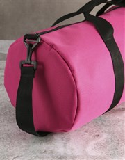 Personalised Star Initials Pink Gym Duffel Bag