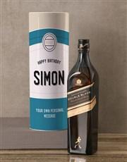 Personalised Glenlivet Retro Whisky Tube