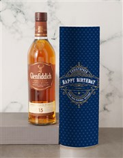 Personalised Glenfiddich Whisky Deco Tube
