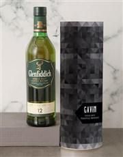 Personalised Glenfiddich Whisky Tube