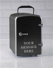 Personalised Message Black Desk Fridge