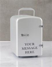 Personalised Message White Desk Fridge