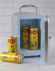 Personalised Cola Silver Desk Fridge